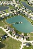 Häuser auf dem Wasser Lizenzfreie Stockbilder