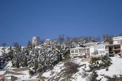 Häuser auf dem Winter Lizenzfreie Stockbilder