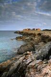 Häuser auf den Felsen lizenzfreies stockbild
