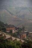 Häuser auf den Hügeln Stockfotos