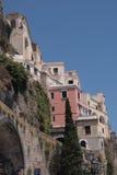 Häuser auf der Klippe Lizenzfreie Stockfotografie