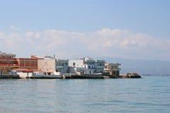Häuser auf der Strandfront Lizenzfreie Stockbilder