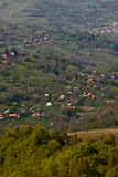 Häuser auf einem Hügel Stockfotos