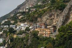Häuser auf einem Hügel Stockfoto
