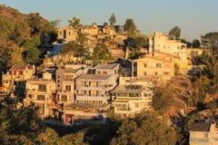 Häuser auf Hügeln 1 Lizenzfreies Stockbild