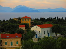 Häuser auf Itchaca-Insel Stockfoto