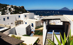 Häuser auf Panarea-Insel Stockfotos