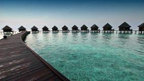 Häuser auf Stapel auf Meer maldives stock video footage
