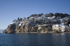 Häuser auf Winter Lizenzfreie Stockbilder