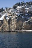 Häuser auf Winter Lizenzfreies Stockbild