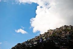 Häuser in Baguio Stockbild