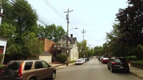 Häuser in Bereich Pittsburghs Shadyside stock video footage