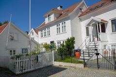 Häuser in Bergen Lizenzfreies Stockfoto