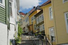 Häuser in Bergen Lizenzfreies Stockbild
