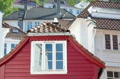 Häuser in Bergen (Norwegen) Stockfotos