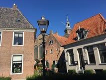 Häuser in Blokzijl die Niederlande Stockfotografie
