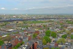 Häuser Bostons Charlestown, Massachusetts, USA stockbild