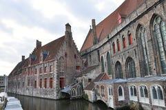 Häuser in Brügge, Belgien Lizenzfreie Stockfotos
