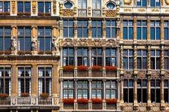 Häuser in Brüssel Lizenzfreies Stockbild