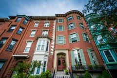Häuser in Bunker Hill, Charlestown, Boston, Massachusetts Stockbild