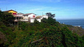 Häuser in den Felsen Lizenzfreie Stockbilder