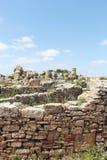 Häuser der altgriechischen Kolonie von selinunte lizenzfreie stockbilder