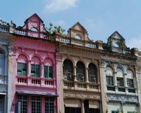 Häuser in der Mitte von Kuaqla Lumpur lizenzfreies stockbild