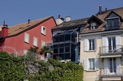 Häuser in der Schweiz Stockbilder