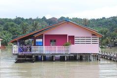 Häuser an der Seeseite Stockfotografie