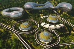 Häuser der Zukunft lizenzfreie abbildung