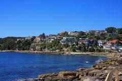 Häuser des männlichen Strandes Australien Lizenzfreies Stockbild