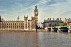 Häuser des Parlaments, London. Lizenzfreie Stockbilder