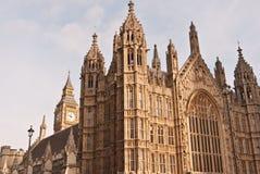 Häuser des Parlaments und des Big Ben. Stockfotografie