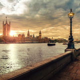 Häuser des Parlaments und des Big Ben, London lizenzfreies stockbild