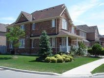 Häuser des roten Ziegelsteines Lizenzfreies Stockfoto