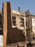 Häuser, die demoliert werden lizenzfreies stockfoto