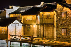 Häuser durch den Kanal Lizenzfreies Stockfoto