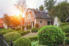 Häuser in Ede, die Niederlande lizenzfreies stockbild