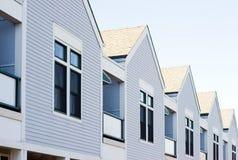 Häuser in einer Reihe Stockfotografie