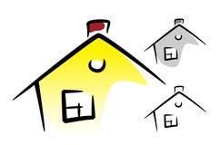 Häuser eingestellt Stockfoto