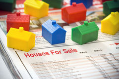 Häuser für Verkauf lizenzfreie stockfotos