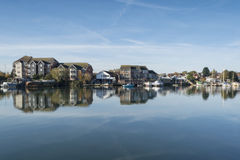 Häuser am Flussufer-Park, Southampton Stockfoto