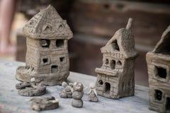 Häuser gemacht vom Lehm Lizenzfreie Stockbilder