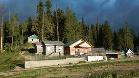 Häuser in Gulmarg-Kashmir-7 Stockbild