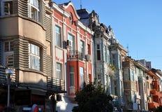 Häuser herein in die Stadt Stockbilder