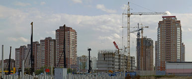 Häuser im Bau Stockfotografie