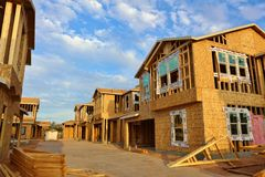 Häuser im Bau (große Datei) Stockbilder