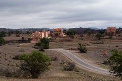 Häuser im Binnenland von Marokko stockfotos