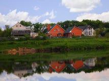 Häuser im Dorf Lizenzfreie Stockfotos
