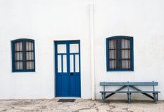 Häuser im Dorf von Almadraba von Monteleva, nahe der Ausnutzung des Salzes im Naturpark von Cabo De Gata, Almeria, lizenzfreies stockfoto